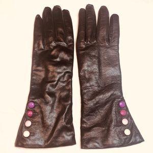 🧤NEW Montefusco Italian Leather Brown Gloves